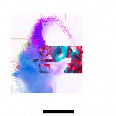 彩色粉末音乐字体设计