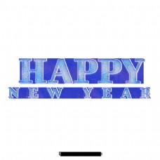 新年快乐英语字母词艺术元素