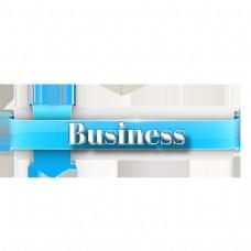 与丝带的透明企业简单的字体设计