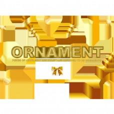 用丝带的金色装饰简单字体设计