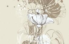 现代线条花朵背景墙