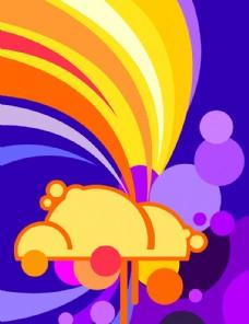 矢量潮流色彩设计元素