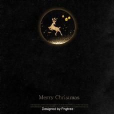 黑色高档圣诞纹理背景