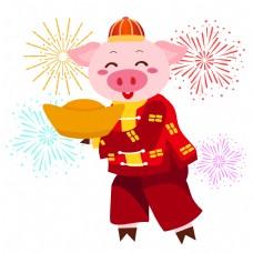 中国猪肉红裙子和包