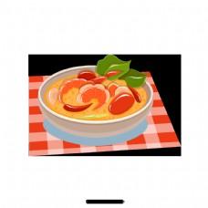 泰国海鲜辣的橙色