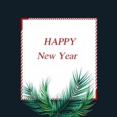 深绿色圣诞松树枝的简要背景