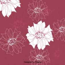 传统的花朵图案