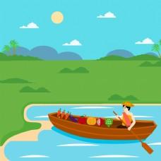 小船水果水产市场