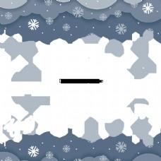圣诞雪矢量框架