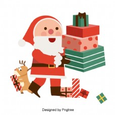平坦的材料和一个四维矢量的圣诞礼物