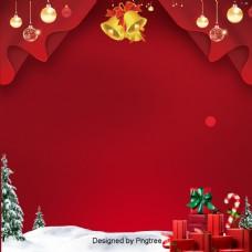 红色的圣诞时装设计的背景