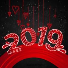 新年红色的心