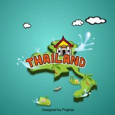 泰国风格的建筑图