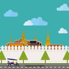 泰国建筑宏伟的宫殿