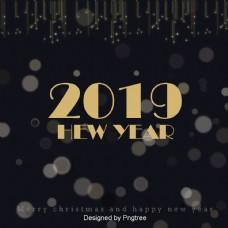 金色的星星灿烂的新年背景年
