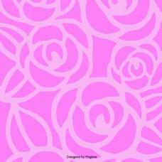 背景花花的颜色是粉红色的