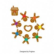 圣诞姜饼棕色平环