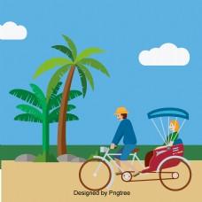 椰子树字符踏板