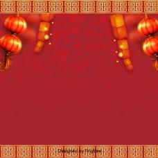 红色灯笼春节快乐快乐的性格
