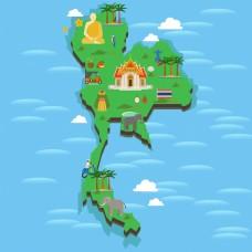泰国地图风景区旅游