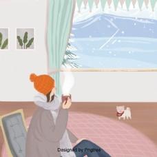冬天室内女人是一杯茶暖事件