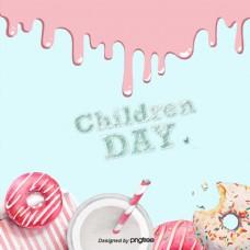 背景图像软粉红色甜甜圈一天甜点