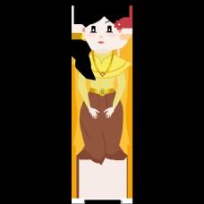 婚纱女士们黄色的花围裙深棕色