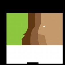 大象棕色树绿色