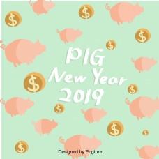 新年韩国可爱的猪