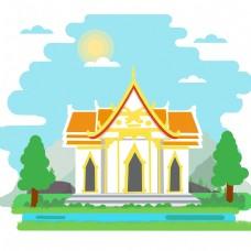 泰国这个宏伟的宫殿建筑