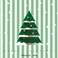 一个创造性的圣诞树圣诞背景