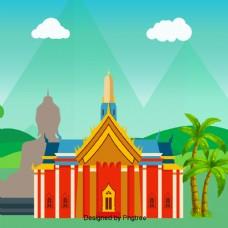 在泰国金佛寺