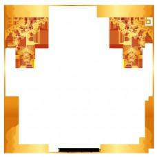 金色的纹理边界梯度边界新年