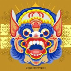 卡通泰国雕像