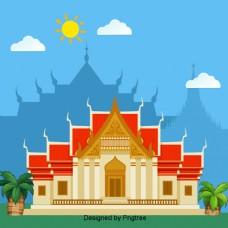 卡通泰国云石庙
