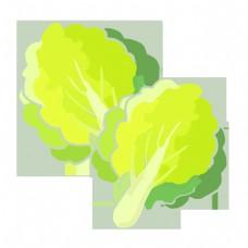 绿色蔬菜的卡通插画