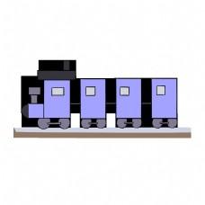 紫色列车火车行驶轨道
