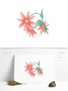 简约手绘花朵图案元素