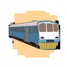 蓝色列车特快火车