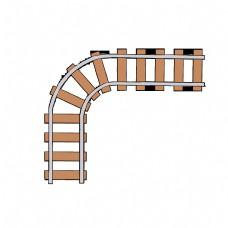 火车铁轨木枕轨道
