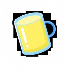 扁平化杯子黄色饮料