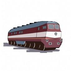 红色列车轨道特快