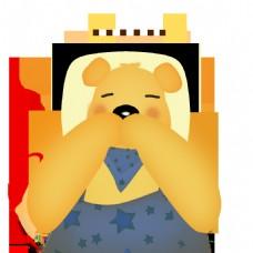 可爱小贱的背带熊