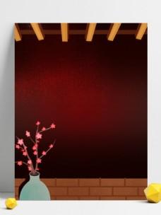 新年节日气氛场景插画背景
