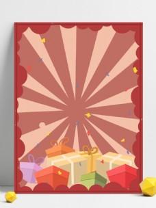 红色喜庆猪年购物背景