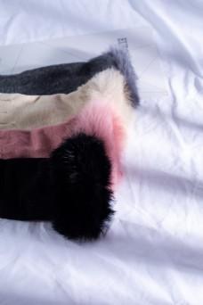 韩版多色女士麂皮绒手套