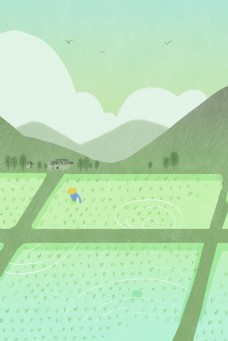 绿色的田地免抠图