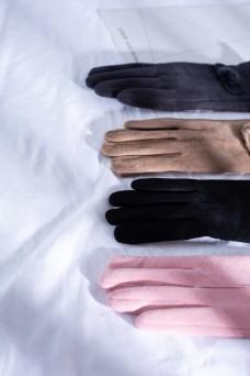 韩版多色女士麂皮绒手套2