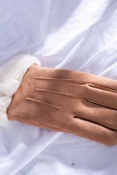 韩版多色女士麂皮绒手套3