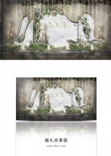 大理石简约婚礼工装效果图